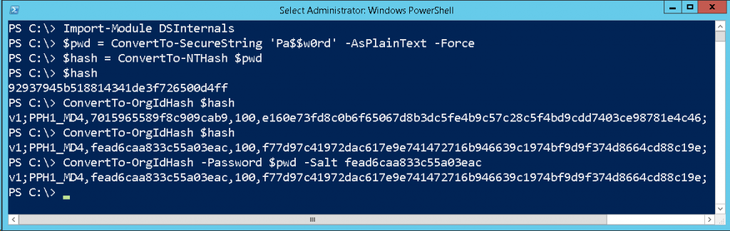 PowerShell OrgId Hash Calculation